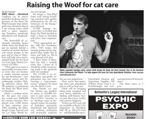 Fundraiser Comedian - raise woof for cat care